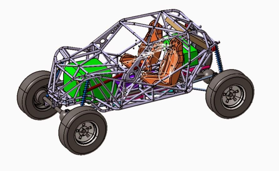 Baggy4x4 Prezentacja Konstrukcji Ramy Przestrzennej